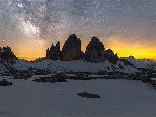 Nejzobrazovanější masiv italských Dolomit, Tre Cime, vpřekladu znamená tři...
