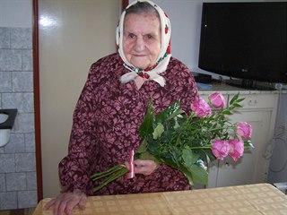 Marie Holíková z Blížkovic na Znojemsku je ve 108 letech nejstarší občankou...