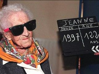Jeanne Calmentová ve věku 122 let. (17. února 1997)