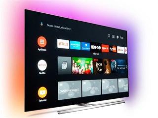 Hlavní obrazovka Android TV 9 Pie na televizoru Philips 55OLED854