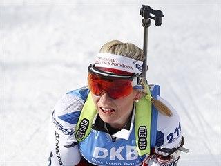Lucie Charvátová si ve sprintu na MS v Anterselvě dojela pro bronz.
