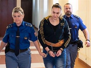 Zuzana Kurová zamířila z vazby ke Krajskému soudu v Hradci Králové (18. 2....