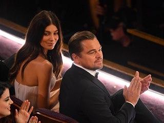 Camila Morrone a Leonardo DiCaprio na Oscarech (Los Angeles, 10. února 2020)