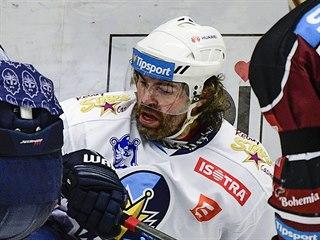 Jaromír Jágr z Kladna v utkání proti Spartě.