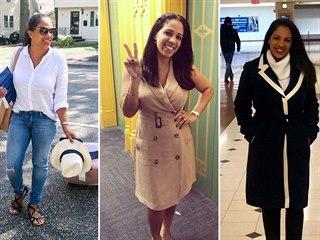 Žena se obléká podle Meghan Markle