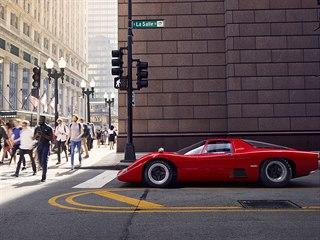 McLaren M6GT v ulicích Chicaga