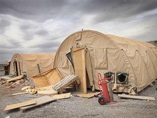 Opuštěná americká vojenská základna Shank v afghánské provincii Lógar, na které...