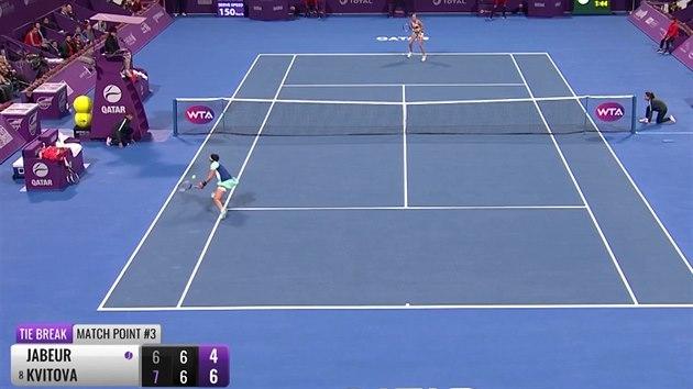 Petra Kvitová je v Dauhá v semifinále, porazila Džabúrovou
