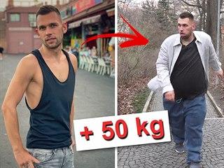 Reportér Matěj Smlsal přibral více než 50 kilo, aby si zkusil, jaké to je být...