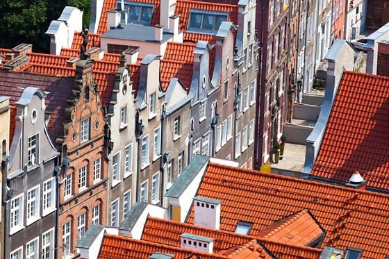 Historické centrum polského Gdaňsku