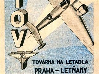 Reklamní prospekt firmy Letov s vyobrazeným strojem Letov Š.50
