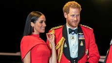 Vévodkyně Meghan a princ Harry na Mountbatten Festival of Music (Londýn, 7....