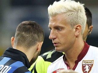 Maxi López z FC Turín a Mauro Icardi, tehdy kapitán Interu Milán. Dva bývalí...
