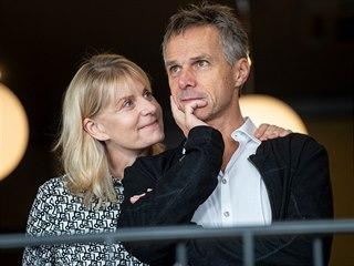 Janek Ledecký s manželkou Zuzanou (30. října 2019)