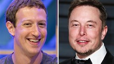 Mark Zuckerberg a Elon Musk