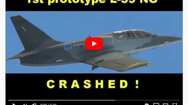Printscreen videa, které mělo dehonestovat společnost Aero Vodochody
