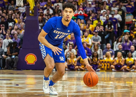 Johnny Juzang v dresu Kentucky Wildcats