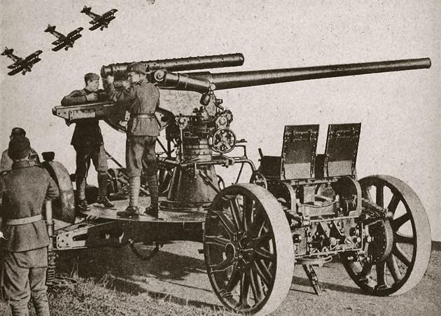 Československý protiletadlový kanon, který ostřeloval Maginotovu linii