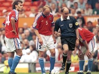 Patrik Berger a Miloslav Kadlec ve finále Eura 1996.