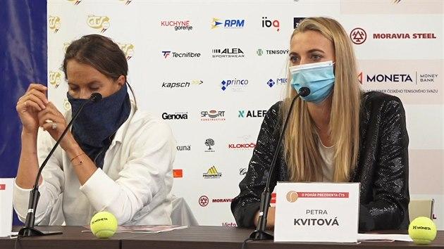 Snad od nás nikdo nečeká výborné výkony, řekla Kvitová o pražském turnaji