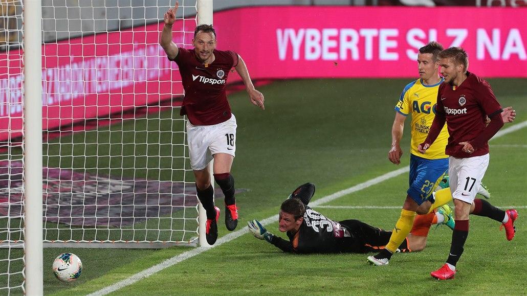 Sparta - Teplice 3:0, příliš snadný zápas, dva góly dal Kozák