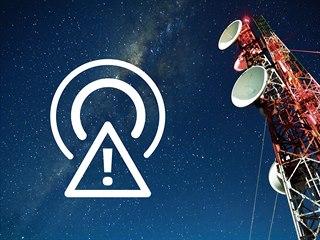 Piktogram, který upozorňuje diváky na blížící se přeladění na DVB-T2