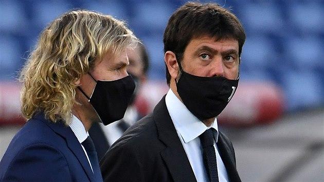 Prezident Juventusu Andrea Agnelli (vpravo) a viceprezident Pavel Nedvìd...