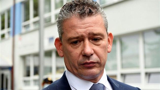 Slovenský ministr vnitra Roman Mikulec přijel vyjádřit svou lítost nad událostmi ve Vrútkách. (11. června 2020)