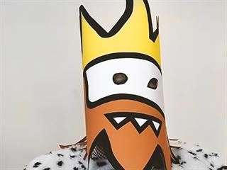Umělec JAZ v masce Zikmunda