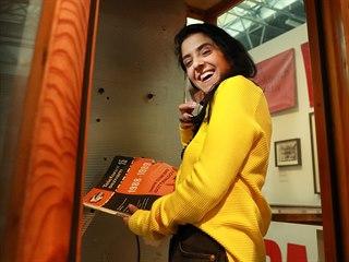 Telefonní budka v Muzeu komunismu