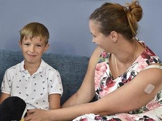 Osmiletý Adam Felkl se svou maminkou Jitkou Felklovou navštívil v Brně...