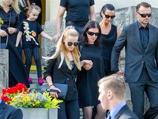 Smuteční hosté na pohřbu fotbalisty Mariána Čišovského.