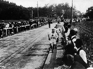 Olympijské hry ve Stockholmu 1912, momentka z maratonu