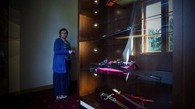 Informace, které se zde návštěvníci dozví, jsou výsledkem dvouleté intenzivní práce historičky Renaty Mauserové (na snímku).