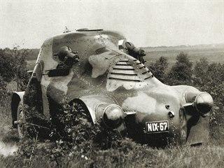 Československá armáda 1918 - 1939. Zajímavý obrněný automobil zvaný pro své...