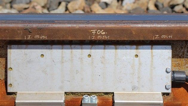 Jeden z 16 instalovaných měřicích řezů (systém má 16 měřicích řezů  a každý z řezů je osazený více čidly).