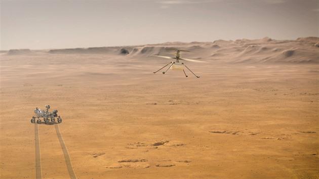 Premiérový let vrtulníčku nad Marsem se odkládá. Při testu došlo k chybě