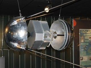 Model Sputnik 1 v muzeu