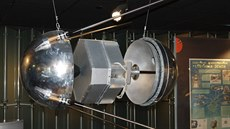 Model Sputnik 1 v muzeu