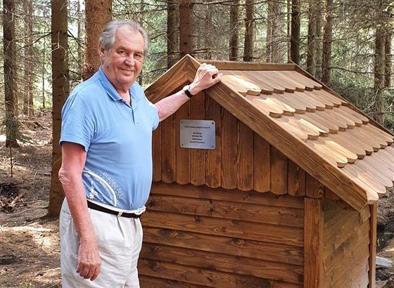 Prezident Miloš Zeman se bìhem dovolené na Vysoèinì vypravil k turistickému...