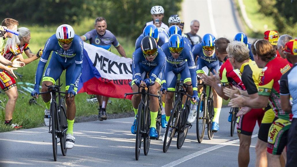 Tým Elkov Kasper zahájil Czech Cycling Tour čtvrtým místem v časovce