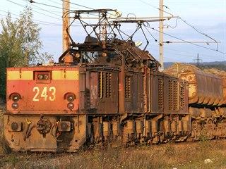 Odklizová lokomotiva Škoda 27E, Sokolovská uhelná, rok 2008