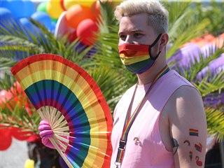V Praze se koná desátý ročník festivalu Prague Pride. (8. srpna 2020)