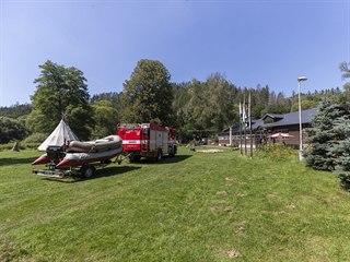 Masarykův tábor YMCA u Soběšína, kde policisté pátrají po dvou pohřešovaných...