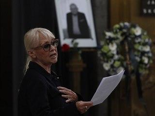 Z posledního rozloučení s hercem Janem Skopečkem (3. srpna 2020)