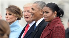 Melania Trumpová, Donald Trump, Barack Obama a Michelle Obamová (Washington,...