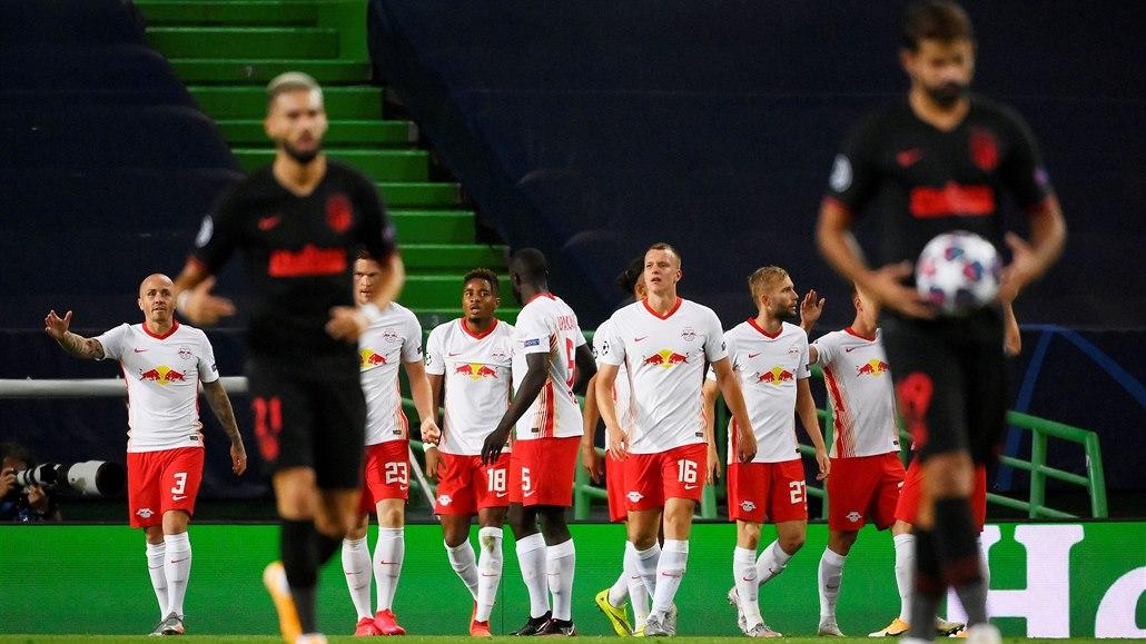 Lipsko - Atlético Madrid 2:1, šťastný gól v závěru posílá dál německý klub