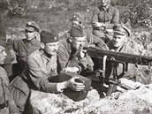 Bitva o Varšavu 1920. Polští vojáci na předměstí hlavního města