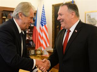 Prezident Miloš Zeman přijal amerického ministra zahraničí Mikea Pompea. (12....