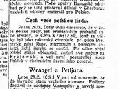 Polskou jízdu vede Čech, zdůrazňovaly před 100 lety lidovky